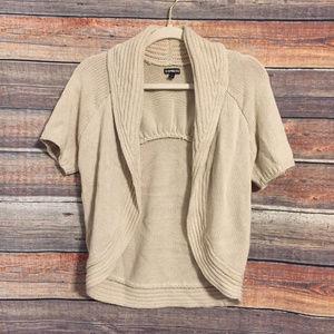 Express tan open front cardigan sweater